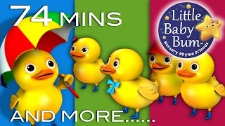 Five Little Ducks | Plus Lots More Nursery Rhymes | 74 Minutes Compilation from LittleBabyBum! full download video download mp3 download music download