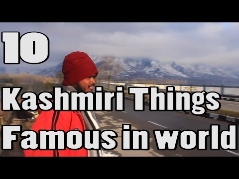 10 Kashmir Things Famous in the World (KASHMIR INDIA TRAVEL VIDEO GUIDE)