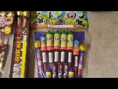 Fireworks Demo (Sky Rocket) - Big Air Rocket Assortment (Dominator) - *CRAPPY ROCKETS*