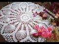 Tapete redondo de piñas en crochet paso a paso #1 - YouTube