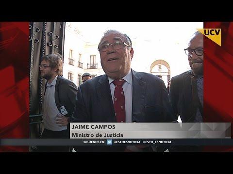 """video Nuevo ministro de justicia anuncia que """"rodarán cabezas"""" por error en padrón electoral"""