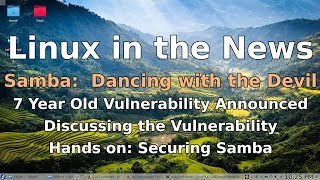 A recently revealed exploit bodes ill for Samba.  How important is it to you? Join me as we discuss the vulnerability, then do some hands on with Samba to look at default security settings and what you can do to make it more secure.Checking if Samba is installed:  dnf list samba  smbstatus  systemctl status nmb smbStop the SMB and NMB services and disable them so they don't start on reboot:  systemctl disable nmb smb  systemctl stop nmb smbInstalling Samba, and security in place initially  dnf install samba  systemctl start smb nmb  setsebool –P samba_enable_home_dirs on  pdbedit –a mark  systemctl restart smb nmb Sources:   CVE-2017-7494.html: https://www.samba.org/samba/security/CVE-2017-7494.html  US-CERT urges fast patch to Samba vulnerabilityhttps://gcn.com/articles/2017/05/25/us-cert-samba.aspxWormable Code-Execution Bug Lurked In Samba For 7 Yearshttps://news.slashdot.org/story/17/05/27/0210259/wormable-code-execution-bug-lurked-in-samba-for-7-years   Fedora 24: Install samba and share with Windows 10https://www.hiroom2.com/2016/06/26/fedora-24-install-samba-and-share-with-windows-10/   Chapter 9. Sambahttps://docs.fedoraproject.org/en-US/Fedora/12/html/Deployment_Guide/ch-samba.html#samba-rgs-overviewIf you enjoy this video, please take a moment to subscribe and share! If you really enjoyed it, give it a like and drop me a comment!Are you interested in helping me grow FastGadgets? Consider visiting my Patreon page and throwing a dollar my way!https://www.patreon.com/FastGadgetsFor more FastGadgets:http://fastgadgets.infoSocial Media:Facebook: https://facebook.com/FastGadgetsChannelTwitter: https://twitter.com/FastGadgetsTechYouTube: https://www.youtube.com/FastGadgetstechVid.me: https://vid.me/FastGadgets