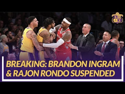 Video: Lakers News: Brandon Ingram and Rajon Rondo Suspended After Altercation With Chris Paul