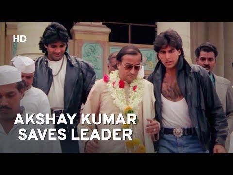 Politician in Trouble | Akshay Kumar | Suneil Shetty | Waqt Hamara Hai | Hindi Action Movie