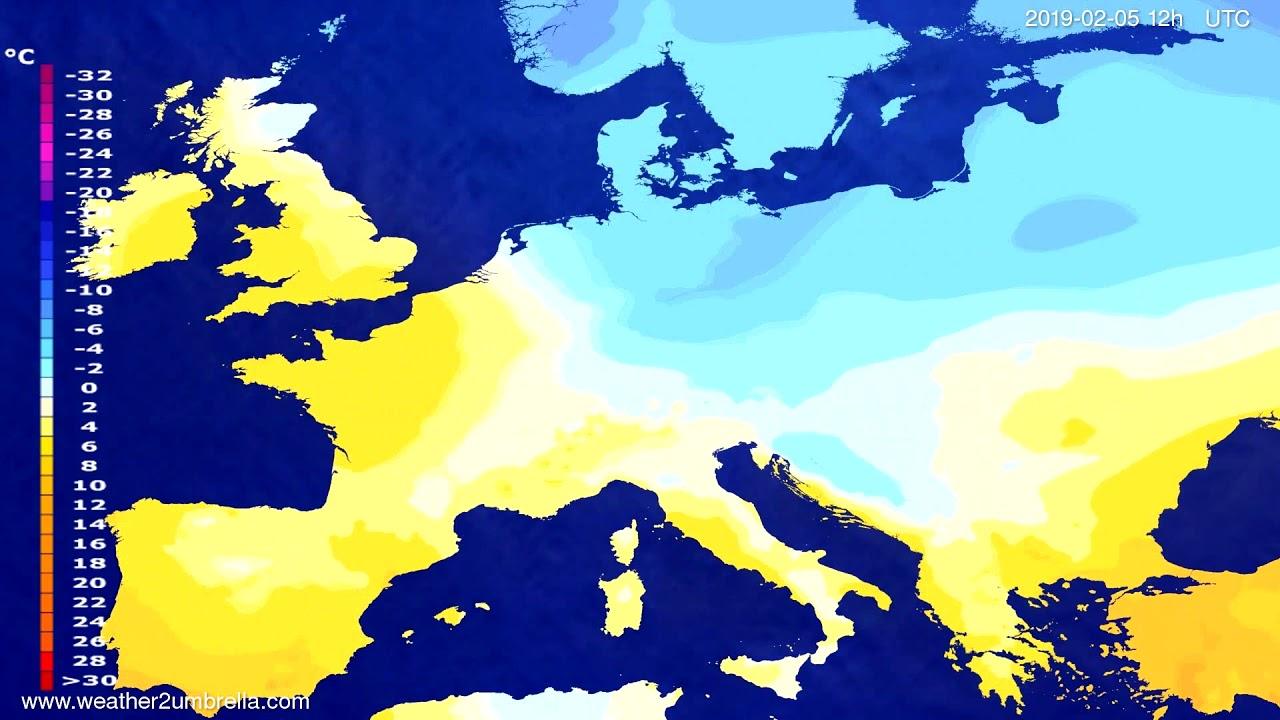 Temperature forecast Europe 2019-02-03