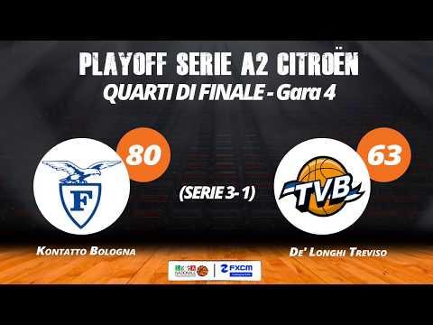 A2 Playoff – Quarti Gara4, gli highlights di Fortitudo-Treviso