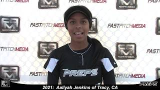 Committed to UNR - 2021 Aaliyah Jenkins Catcher and Shortstop Softball Skills Video - Easton Preps