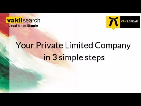 How to register a private limited company in India ?