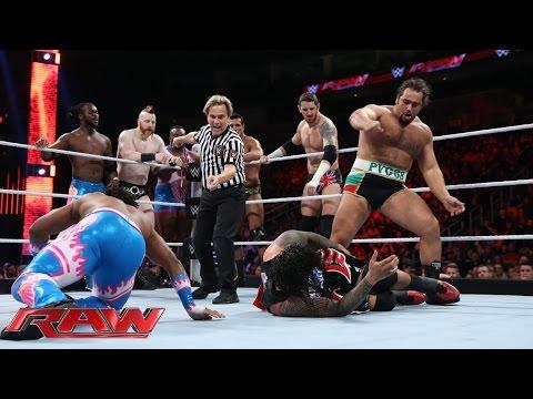 Reigns, Ambrose & The Usos vs. Sheamus, Barrett, Rusev, Del Rio & New Day: Raw, Nov. 30, 2015
