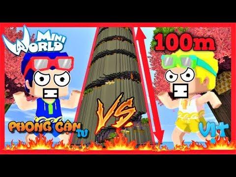 Phong Cận và Mr. vịt thi parkour lên thiên đàng | Thử thách chơi map cao nhất thế giới mini world - Thời lượng: 14 phút.