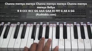 Video Channa Mereya Meraya (Piano Tutorials) - Rushisbiz download in MP3, 3GP, MP4, WEBM, AVI, FLV January 2017