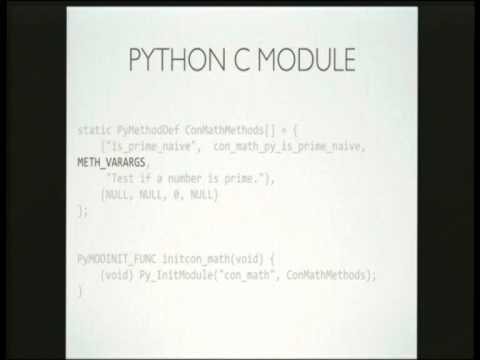 Ben Shaw: Python is slow, make it faster with C