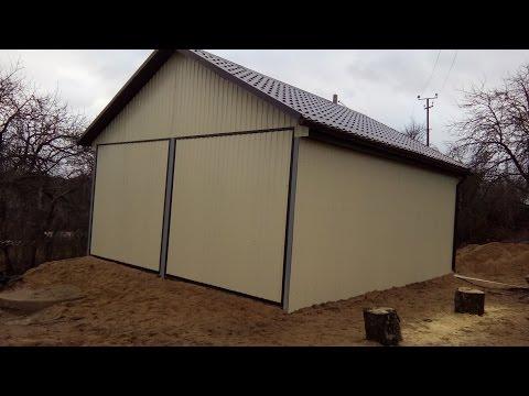 Как я построил гараж из профнастила своими