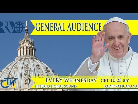 audience - Every Wednesday the Holy Father holds a General Audience where he greets the pilgrims present and delivers a catechesis.