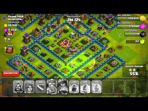Clash of Clans - Valkyrie Jump Spell Raiding! видео