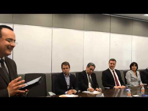 Firma de convenio entre STDF y empresa Tyco Integrated Fire & Security