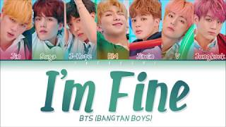 Video BTS (방탄소년단) - I'm Fine (Color Coded Lyrics Eng/Rom/Han/가사) MP3, 3GP, MP4, WEBM, AVI, FLV November 2018