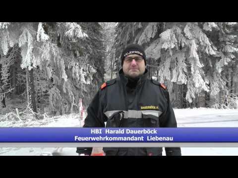 Raureif Feuerwehreinsätze in Liebenau