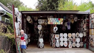 96-Year-Old Artist Wants To Find A New Owner For His Toilet Lid Museum