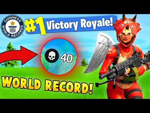 40 Kills By 1 Player!? World Record! (fortnite Solo Fails & Wins #7)