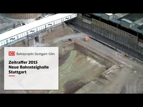 Stuttgart 21: Hauptbahnhof, Neue Bahnsteighalle (Zeitrafferfilme 2010-2015)