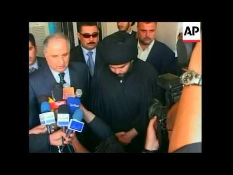 Chalabi and Shiite cleric Muqtada al-Sadr discuss new gov't