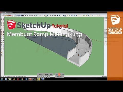 SketchUp Tutorial - Membuat Ramp Lengkung Tanpa Plugin
