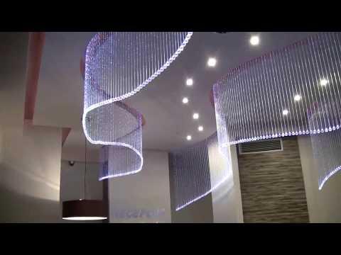 Zestaw Kryształowe Kule - Lampy Światłowodowe, modne oświetlenie do hotelu, najlepsze projekty wnętrz hoteli
