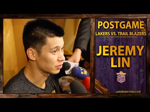 Video: Lakers vs. Trail Blazers: Jeremy Lin, 'Felt Like I Played 62 Minutes!'