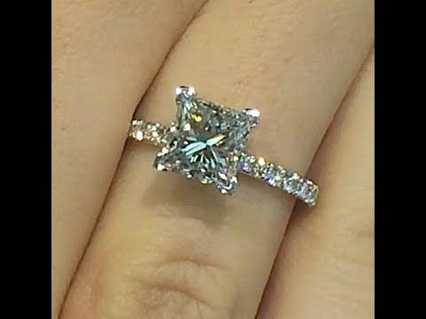 2.00 carat Princess cut Diamond Engagement Ring