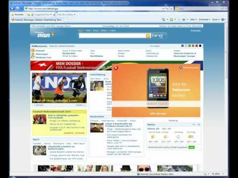 Startseite erstellen / einrichten mit Internet Explorer