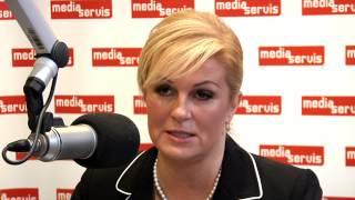 U četiri oka | Intervju - Kolinda Grabar Kitarović | Media Servis 2014