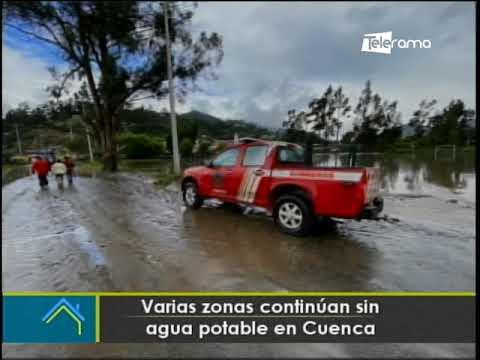 Varias zonas continúan sin agua potable en Cuenca