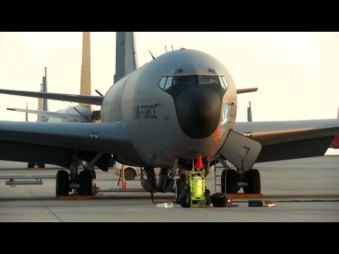 KC-135, C-130 and B-1 at Al Udeid...