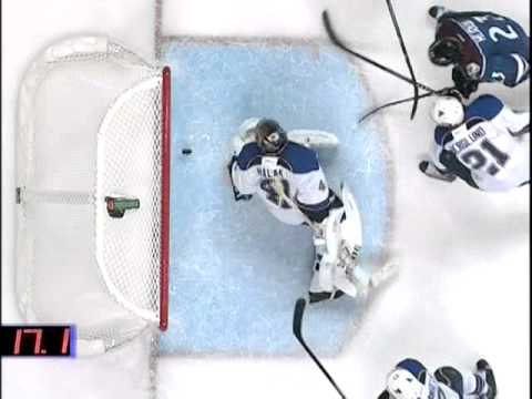 Jaroslav Halak's incredible save vs. Colorado      - YouTube