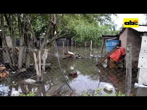 Inundaciones súbitas afectan San Pedro y Concepción