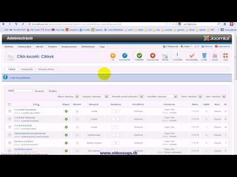 Honlap adminisztrációs felület áttekintése