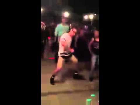Guy hits cha cha slide hard as fuck