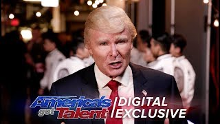 Elimination Interview: The Singing Trump Thanks His Voters - America's Got Talent 2017