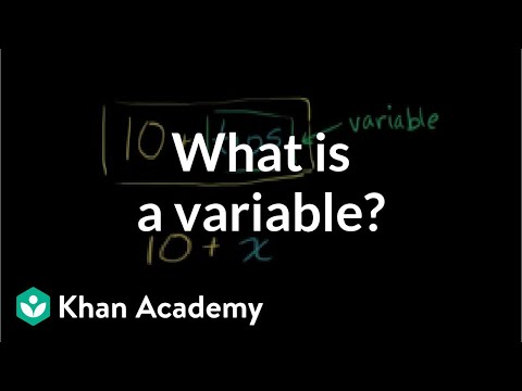 what is a variable video khan academy