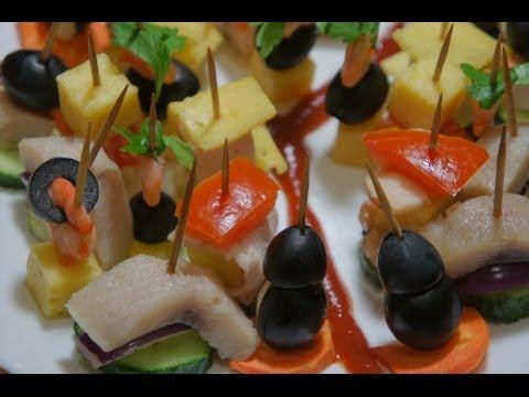 разновидности канапе рецепты с фото