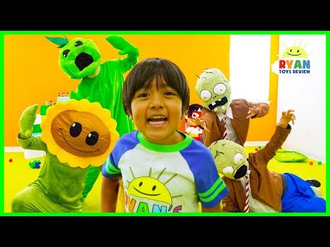 Plants vs Zombies Garden Warfare In Real Life Pretend Play with Ryan ToysReview
