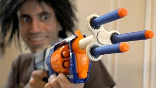 NERF WAR: FIDGET SPINNER TOY!