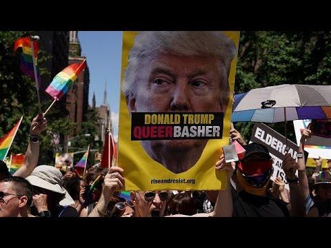 Νέα Υόρκη: Με συνθήματα κατά του Ντόναλντ Τραμπ το Gay Pride