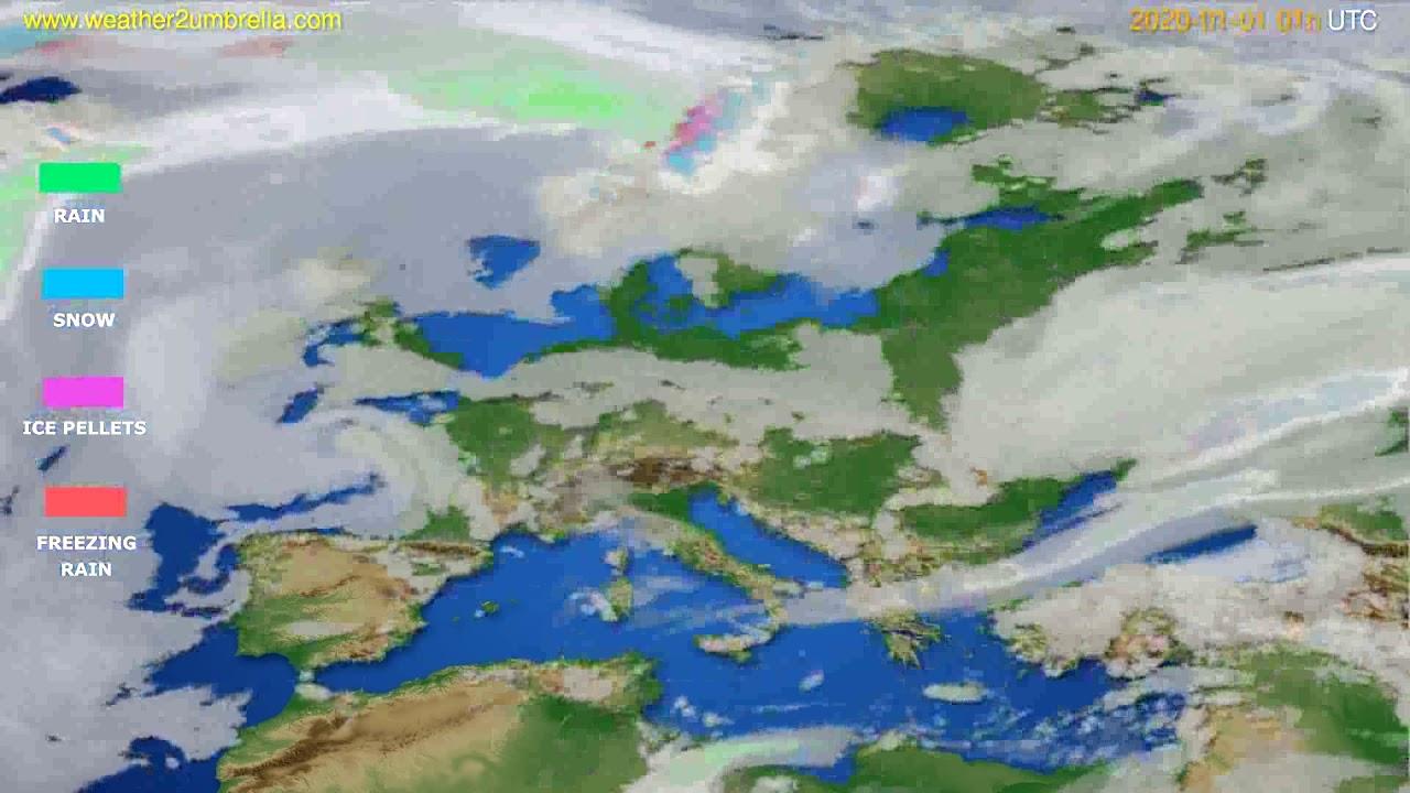 Precipitation forecast Europe // modelrun: 12h UTC 2019-12-30