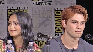 SUBSCRIBE FOR EXCLUSIVE INTERVIEWS WITH THE CAST NEXT WEEKsee the panel for Riverdale Season 2 from San Diego Comic-Con 2017. Attending are K.J. Apa (Archie Andrews), Lili Reihart (Betty Cooper), Camila Mendes (Veronica Lodge), Cole Sprouse (Jughead Jones), Marisol Nichols (Hermione Lodge), Casey Cott (Kevin Keller), Madelaine Petsch (Cheryl Blossom), showrunner Roberto Aguirre-Sacasa and many more.