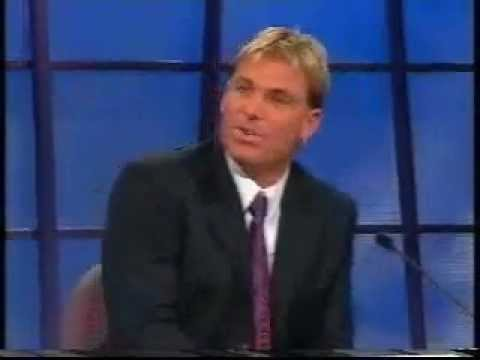 The Footy Show AFL (2003) - Shane Warne gets told by Sam