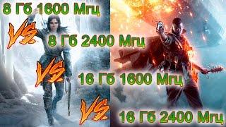 Система: 3770К @ 4.7 + GTX 1070Память:8 Гб @ 1600 Мгц со стандартными таймингами16 Гб @ 1600 Мгц со стандартными таймингами8 Гб @ 2400 Мгц 11-13-14-31-116 Гб @ 2400 Мгц 11-13-14-31-1