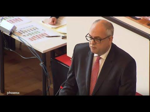 Bremen: Regierungserklärung des neuen Bürgermeisters Andreas Bovenschulte (SPD)