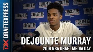 Dejounte Murray NBA Draft Media Day Interview